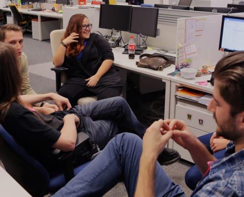 Mitarbeiter im Office